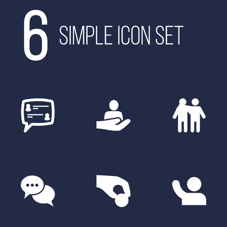 Set Of 6 Maintenance Icons Set.Collection Of Talk, Undertake, Human And Other Elements.