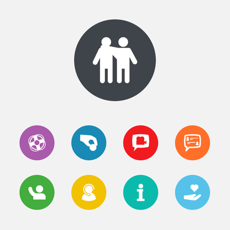 Set Of Support Icons Set. Collection Of Care, Support, Undertake And Other Elements.