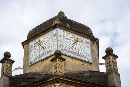 Photo for A sundial is a device that tells the time of day when there is sunlight by the apparent position of the Sun in the sky - Royalty Free Image