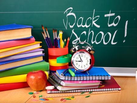 Foto de Back to school supplies. Isolated. - Imagen libre de derechos