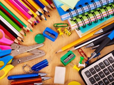 School  office supplies on board.