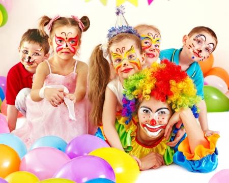 Child happy birthday party .