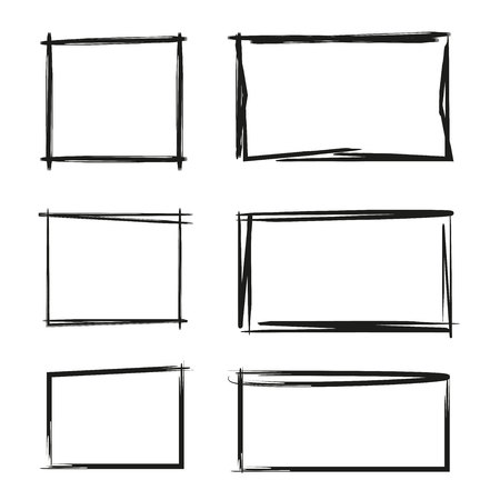 hand drawn rectangle, text box and frames