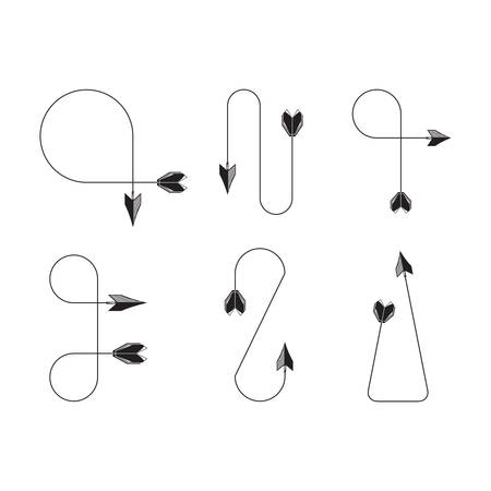 Illustration for arrows vector illustration set - Royalty Free Image