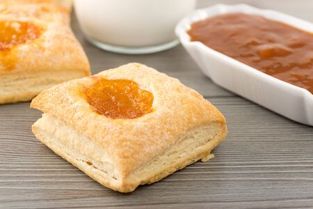 puff pastry with jam