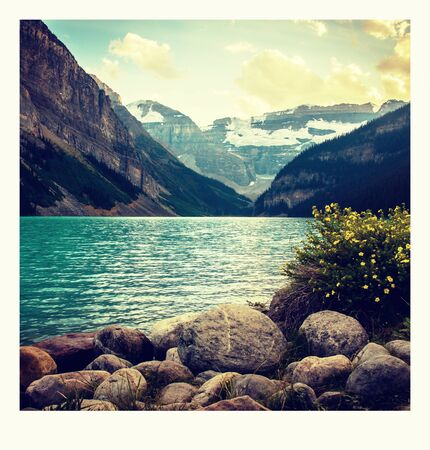 photo on the way around Lake Louise in Banff, in the Rocky Mountains, Banff National Park, Alberta, Canada.