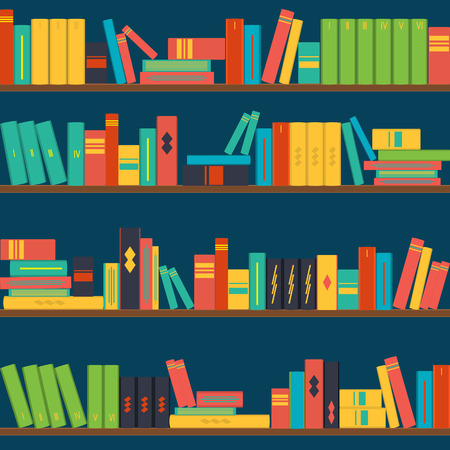 vector seamless pattern bookshelves background