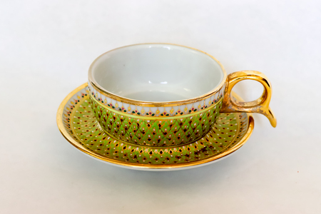 Benjarong  coffee cup is a traditional Thai five colors famous porcelain in the Rattanakosin period.
