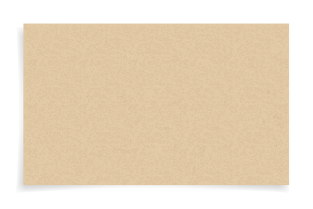 Illustration for Brown paper texture on white background. Vector illustration. - Royalty Free Image