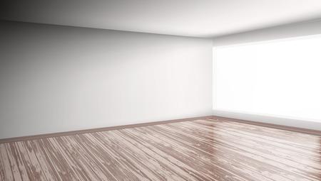 Illustration pour Modern Bright Interior Empty Room isolated on plain background. - image libre de droit