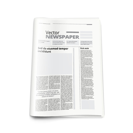 Illustration pour Realistic Newspaper Or News Magazine Abstract Template. EPS10 Vector - image libre de droit