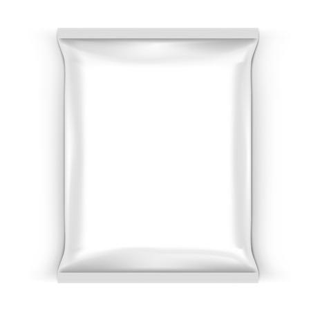 Illustration pour Food Snack Pillow White Bag For Branding - image libre de droit