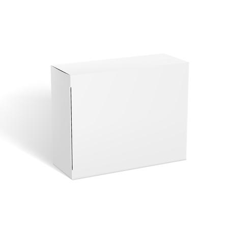 Illustration pour 3D Realistic Clear White Package Box Template - image libre de droit