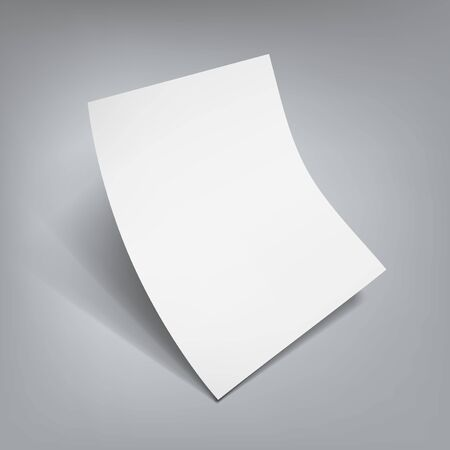 Illustration for White Clear Flying Sheet Of Paper With Shadow - Royalty Free Image