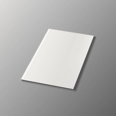 Illustration pour Blank Magazine Or Brochure Cover Isolated On White. EPS10 Vector - image libre de droit