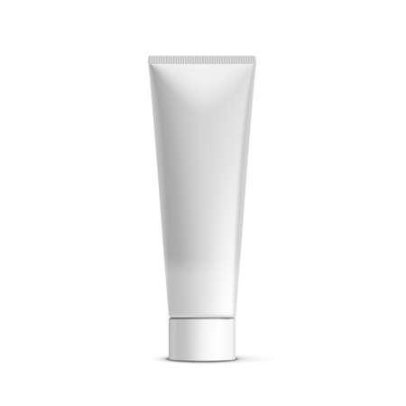 Illustration pour White Clear Tube For Tooth Paste, Gel, Paint, Glue - image libre de droit