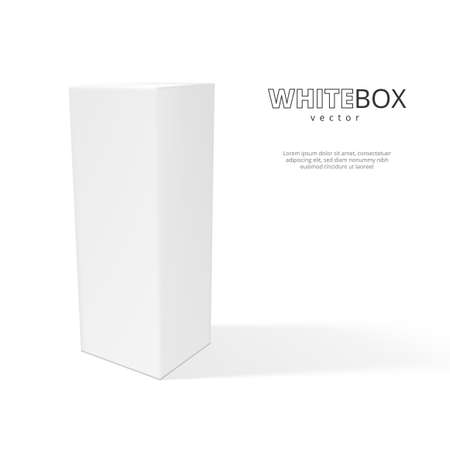 Illustration pour 3D White Box With Shadow Isolated On Background - image libre de droit