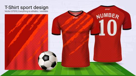 Illustration pour Soccer jersey and t-shirt sport mockup template - image libre de droit