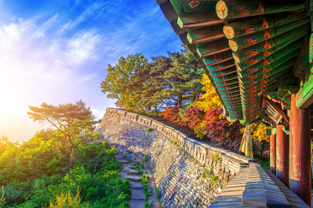 Photo for Autumn at Namhansanseong Fortress in Seoul, South Korea. - Royalty Free Image