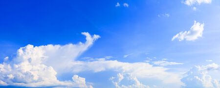 Photo for panorama sky and cloud summer time beautiful background - Royalty Free Image