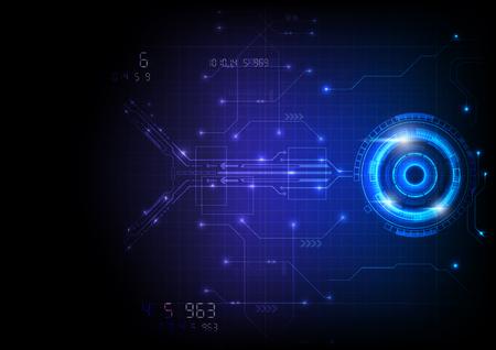 Illustration pour Blue Light Futuristic Game Circuit Technology - image libre de droit
