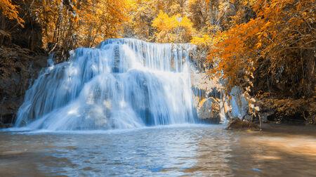 Waterfall beautiful in asia southeast asia Thailand