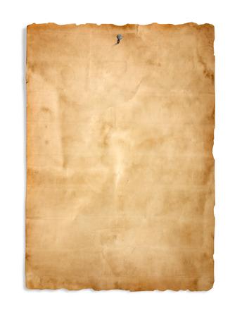 Photo pour Old paper on the white background - image libre de droit