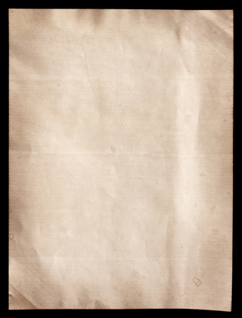 Old brown paper texture on black