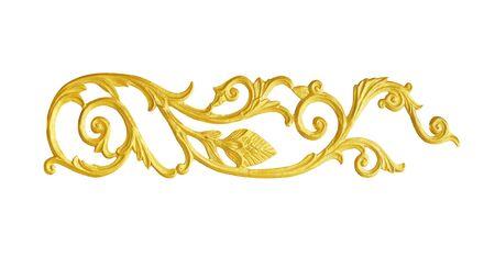Photo pour Ornament elements, vintage gold floral designs - image libre de droit