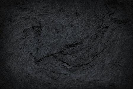 Photo pour Dark grey black slate stone  texture abstract background - image libre de droit