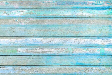 Foto de Old wooden blue and white wall texture background - Imagen libre de derechos