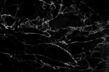 Photo pour Black marble natural pattern for background, abstract black and white - image libre de droit
