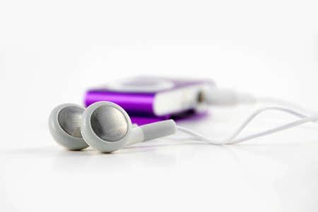 Digital audio player with headphones