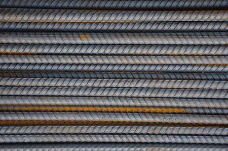 steel rebar sort on the ground.