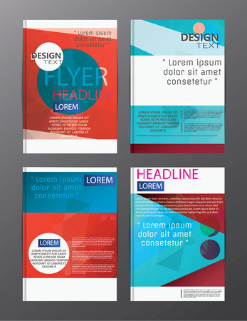 Illustration pour flyer design business annual report brochure template. cover presentation abstract background for business, magazines, - image libre de droit