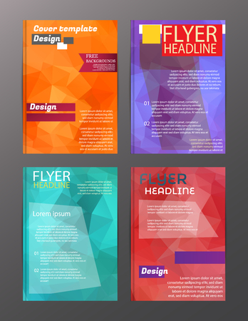 Illustration for Vector Brochure Flyer Design Layout Templates. Abstract - Royalty Free Image