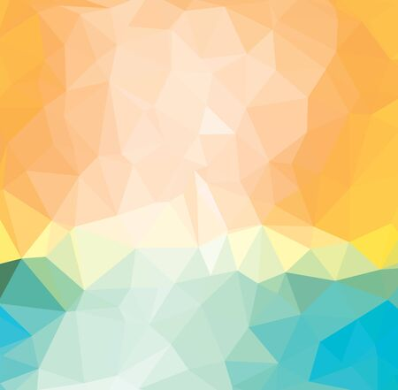 Illustration for Light Yellow vector triangle mosaic template - Royalty Free Image