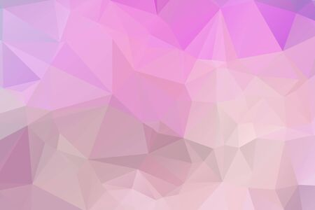 Illustration pour Light Pink vector modern geometric abstract background  , Multicolor, Rainbow vector triangle mosaic template - image libre de droit