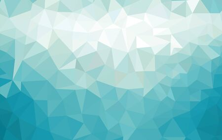 Illustration for Abstract low poly background of triangles in blue colors - Royalty Free Image