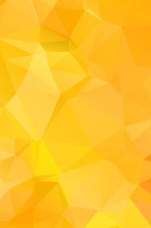 Illustration for Yellow vivid polygonal vector background.  geometric vector illustration. creative design template - Royalty Free Image