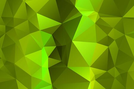 Illustration for Green vivid abstract geometric background, vector from polygons triangle, mosaic - Royalty Free Image