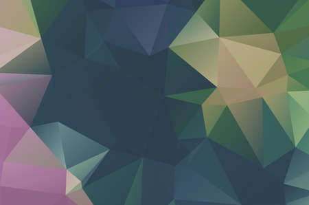 Illustration for Geometric designs. Vector, multicolor geometric background. Triangles, vivid in the style of cubism - Royalty Free Image