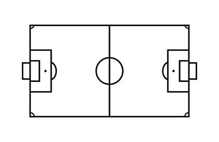 Outline Soccer Field.