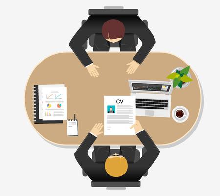 Illustration pour Job interview concept illustration. Flat design. - image libre de droit