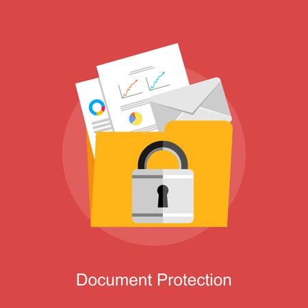 Illustration pour Document protection, data protection, or document management concept illustration. - image libre de droit