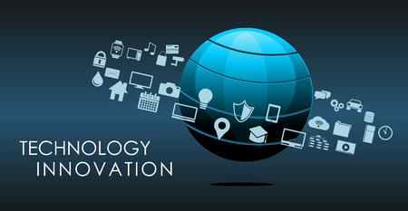 Illustration pour Information technology or technology innovation abstract background. - image libre de droit