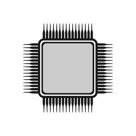 Chip icon, microchip icon.