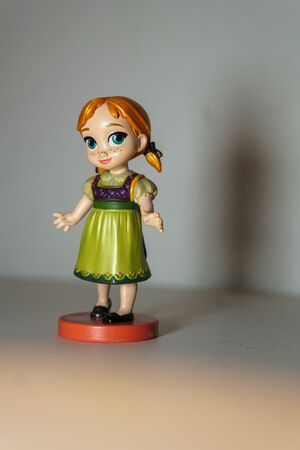 MILAN (ITALIA) - DECEMBER 15, 2019: Figure Anna of Arendelle