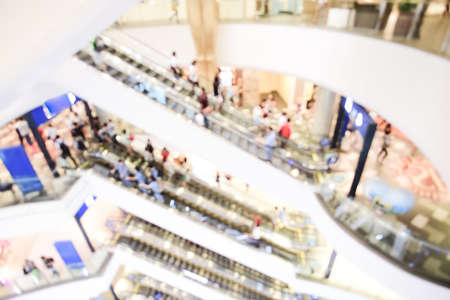 department store blurred