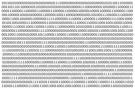 Foto de Abstract Technology Binary code Background.Digital binary data and Secure Data Concept on white background. - Imagen libre de derechos